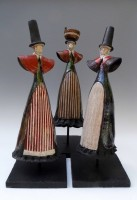 Raku Welsh ladies different designs